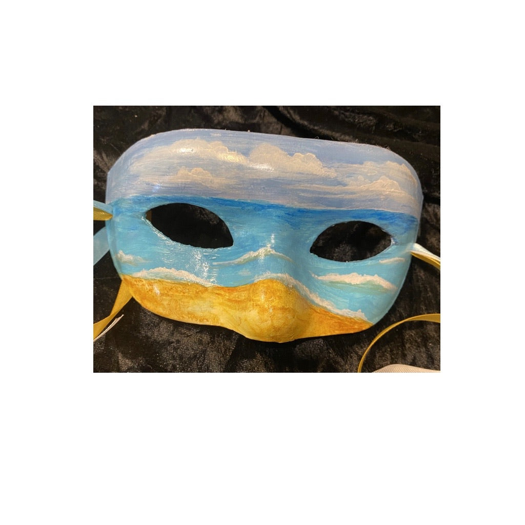 """Ocean View"" Decorative Mask"