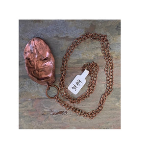 Electroformed Copper Oyster Shell Necklace