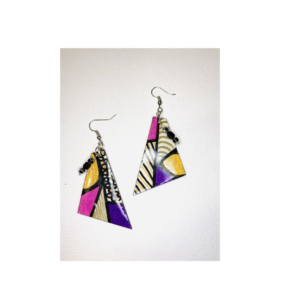 Triangle Color Block Earrings