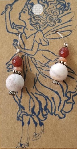 Carnelian and Sunstone Earrings by Marianne Bramble