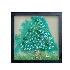 """Triangle Tree with Dog"" Window Art"