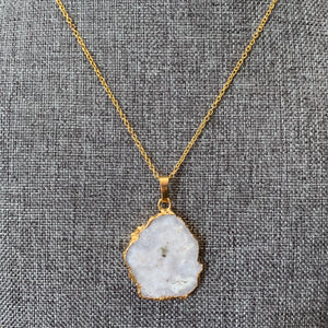 White Quartz Pendant Necklace