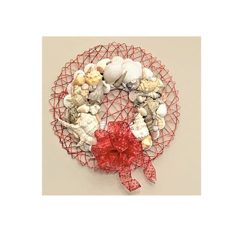 Red Sea Shell Wreath by Rebecca Marcussen