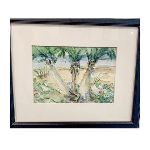 """Beach Palms"" Original Watercolor by Ting Blessington"