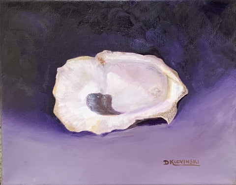 """Single Oyster"" Original Oil by Dianne Klevinski"