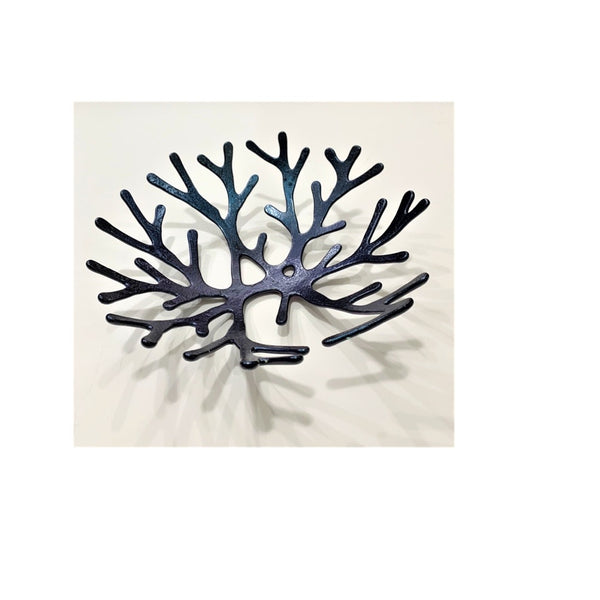 """Black Coral"" 11-Inch Functional Art Bowl"