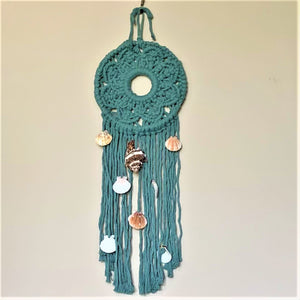 10-Inch Jade Geometric Design Macramé Dream Catcher