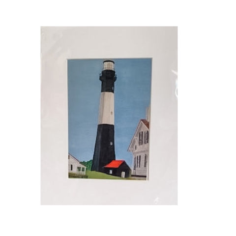 """Tybee Island Lighthouse"" Matted Acrylic Print by Dianne Klevinski"