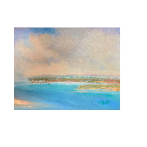"""Azure Afternoon"" Original Oil by Beverly Waite"