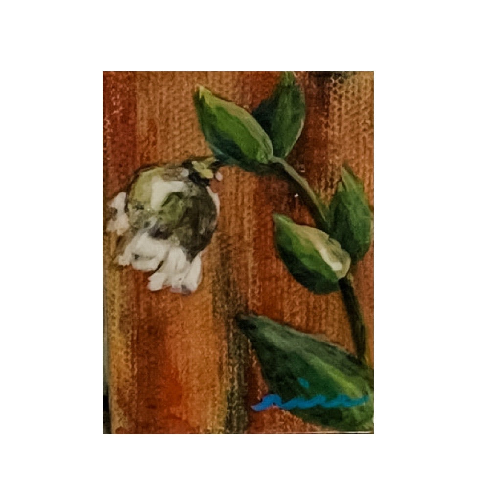 Small Tybee Flower Decorative Acrylic Magnet by Rebecca Rice