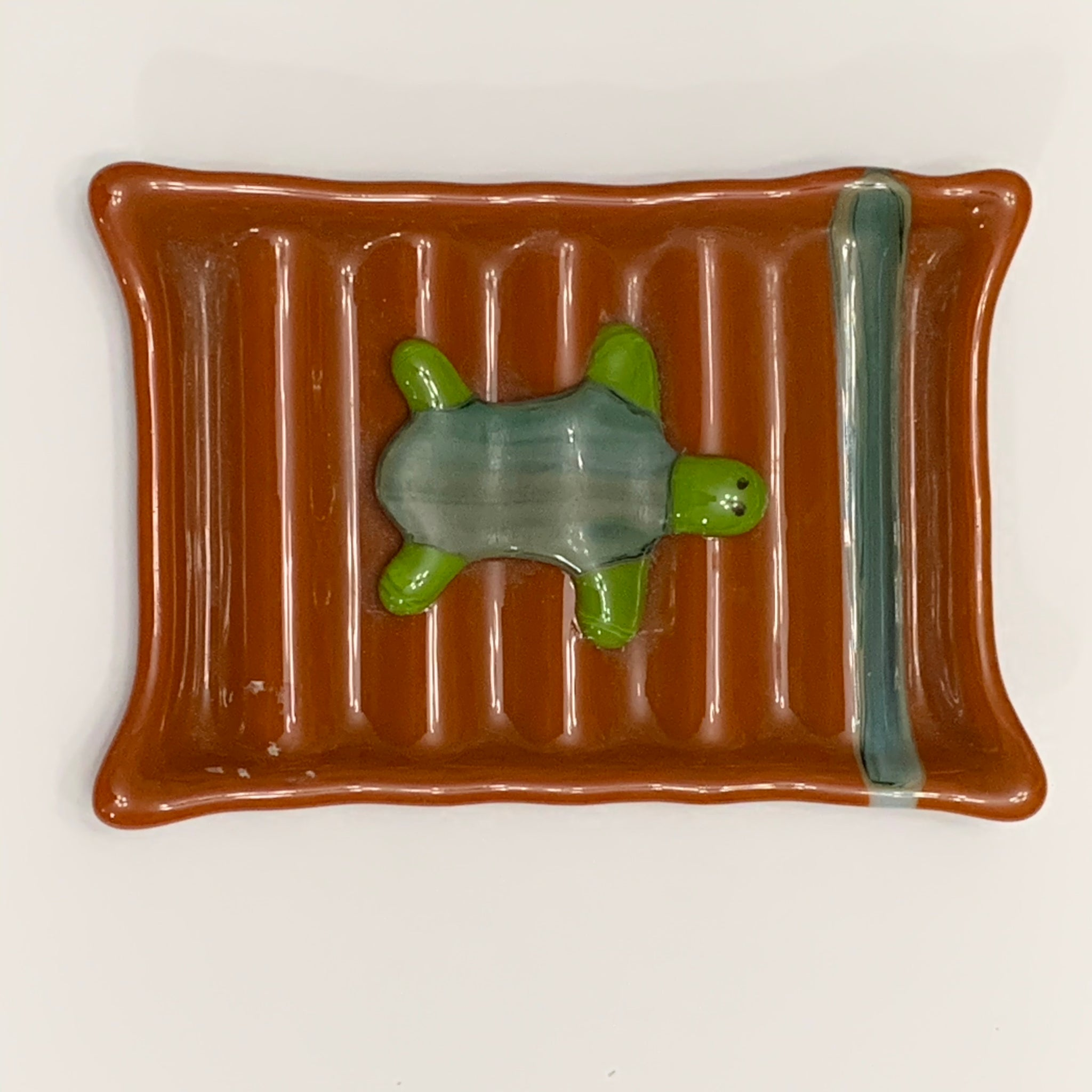 Fused Glass Turtle Soap Dish