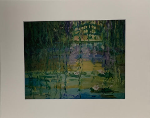 """Monet's Water Garden"" Matted Oil Print by Patricia Geary"
