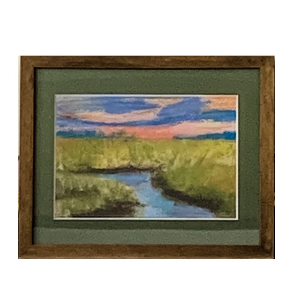 """Summer Marsh Sunset"" by Sarah Bernzott"