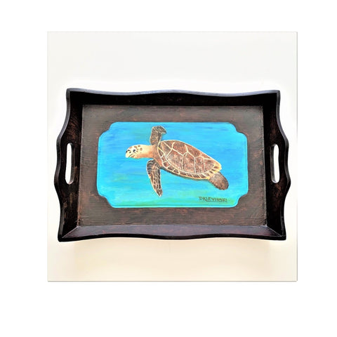 """Turtle Tray"" Original Acrylic by Dianne Klevinski"