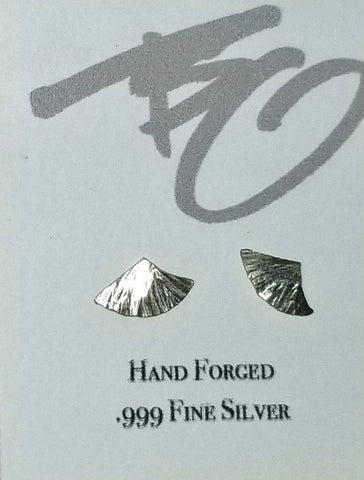 ".999 Pure Silver ""Wing"" Stud Earrings by Brian Gilbert"