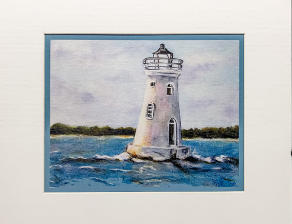 """Cockspur Lighthouse"" Acrylic Print by Rebecca Rice"