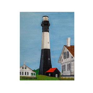 """Tybee Island Lighthouse"" Original Acrylic by Dianne Klevinski"