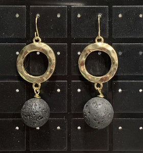 Black Lava Earrings Sarah Bernzott