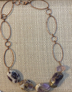 Dog Tooth Amethyst Nugget Necklace by Sarah Bernzott
