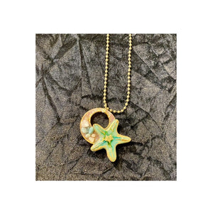 Starfish on Circle Necklace