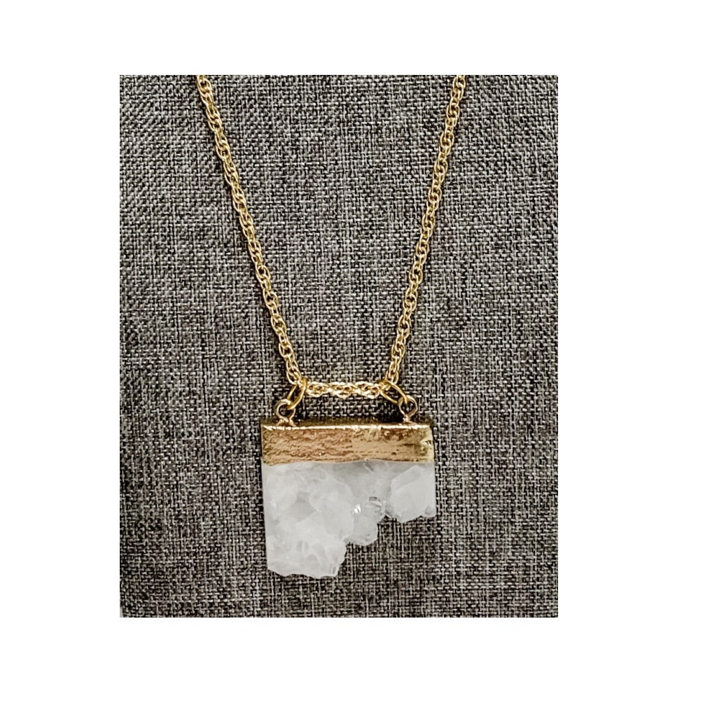 Chunky Quartz Necklace by Corrine Dowd