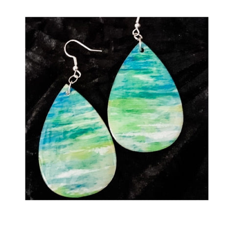 """Blue Lagoon"" Dangle Earrings by Debi Scott"
