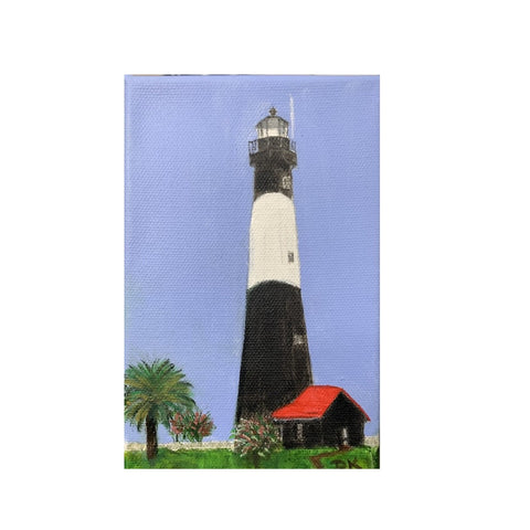"""Lilliputian Art: Tybee Light Station II"""