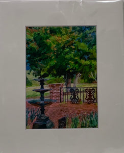 """In the Garden"" Matted Pastel Print by Sarah Bernzott"