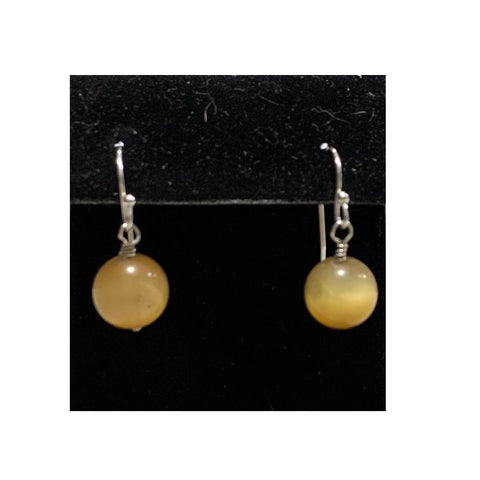 Golden Tiger Eye Earrings by Marianne Bramble