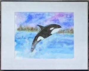 """Celebrating Whale Week"" Original Watercolor by Ting Blessington"