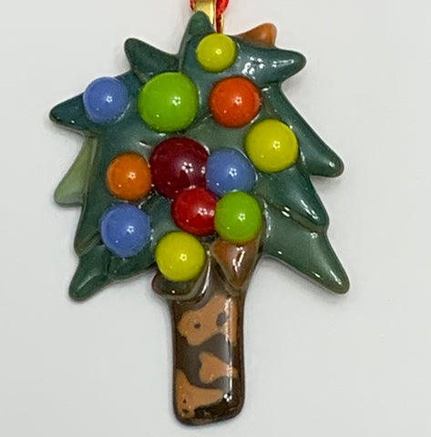 Hand-cut Fused Glass Christmas Ornaments by Twisted Sisters