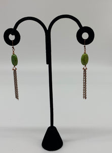 Green Copper Earrings