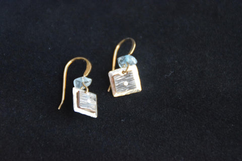 9mm Square Sterling Silver Plate on Copper Dangles by Brian Gilbert