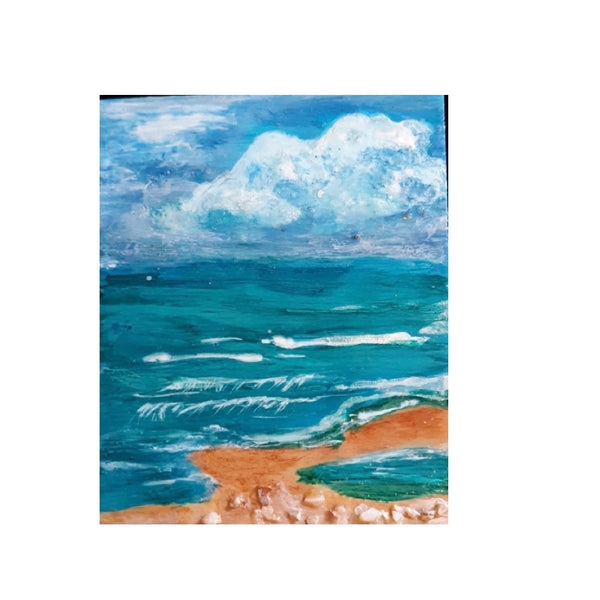 Tybee Beach 3.5x3 Inch Magnet by Debi Scott