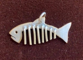 27mm Sterling Silver Plate on Copper Fish Necklace  by Brian Gilbert