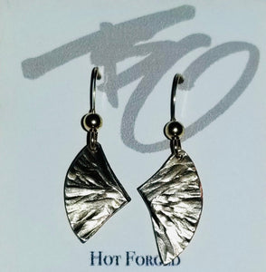 """Wing"" Dangles Nickel Silver Earrings by Brian Gilbert"