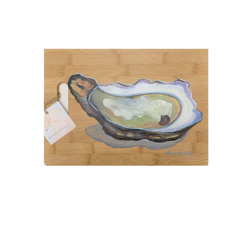 Single Oyster on Cutting Board