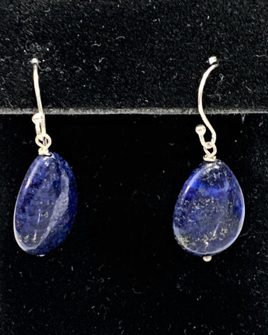 Blue Lapis Teardrop Earrings by Marianne Bramble