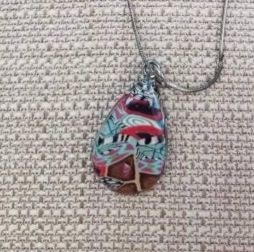 Beautiful Polymer Clay Necklace by Cheryl Martin