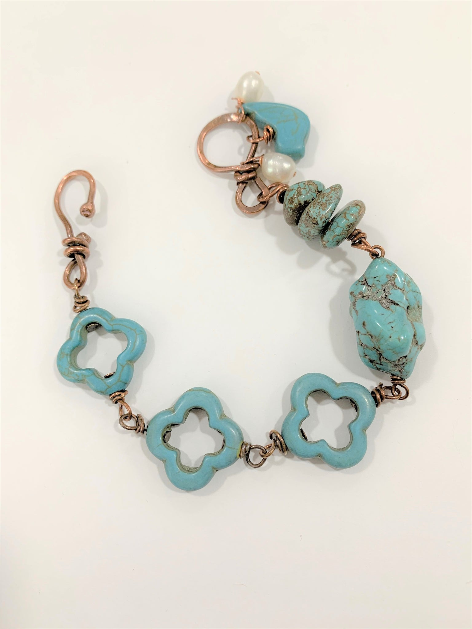 Magnesite and Copper Bracelet by Sarah Bernzott
