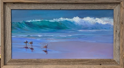 """Sandpipers for Shore"" Original Oil by Sharon McIntosh"