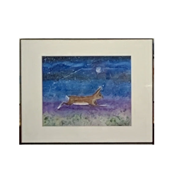 """Rabbits Know Secrets I"" Original Watercolor by Ting Blessington"