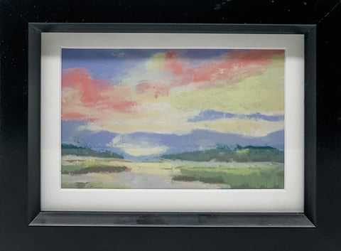 """Afternoon Sky: Tybee Marsh"" Pastel Print by Sarah Bernzott"