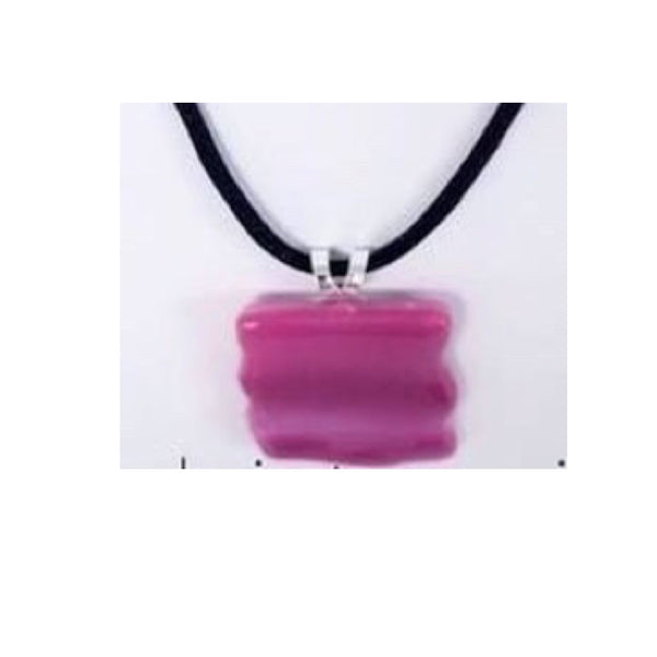 """Pretty in Pink"" Glass Fused Necklace"