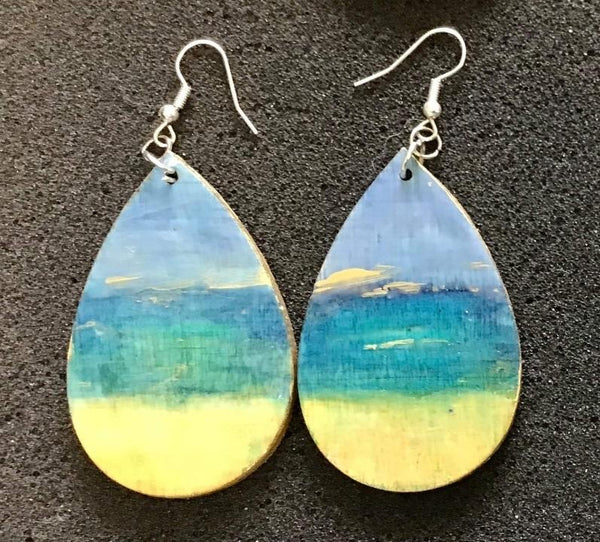 """Ocean Modern"" Dangle Earrings by Debi Scott"