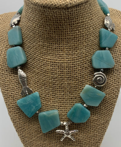 Hand Crafted Amazonite Necklace
