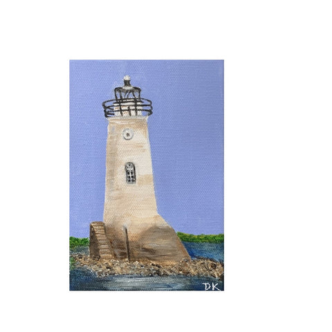 """Lilliputian Art: Cockspur Lighthouse"""