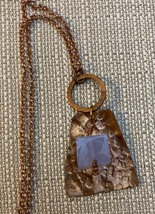 Recycled Copper Crazy Lace Agate Necklace by Sarah Bernzott