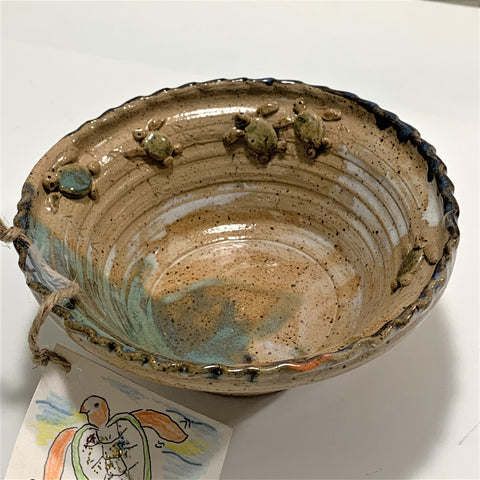 """Turtle Bowl"" Original Stoneware by Polly Cooper"