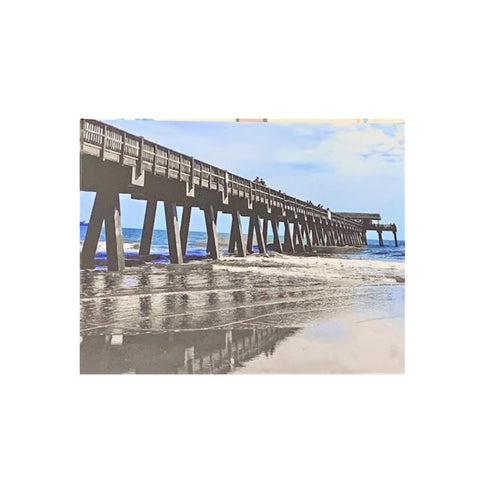 """Blue Tybee Pier"" Photographic Print by Twisted Sisters"
